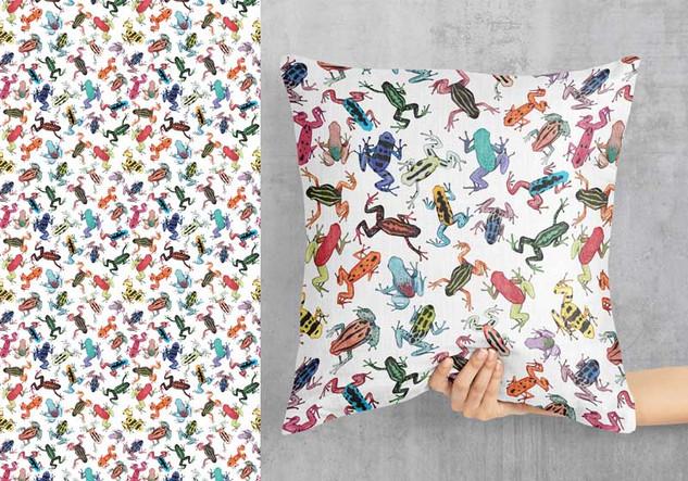 Poison Dart Frog pattern design 2021