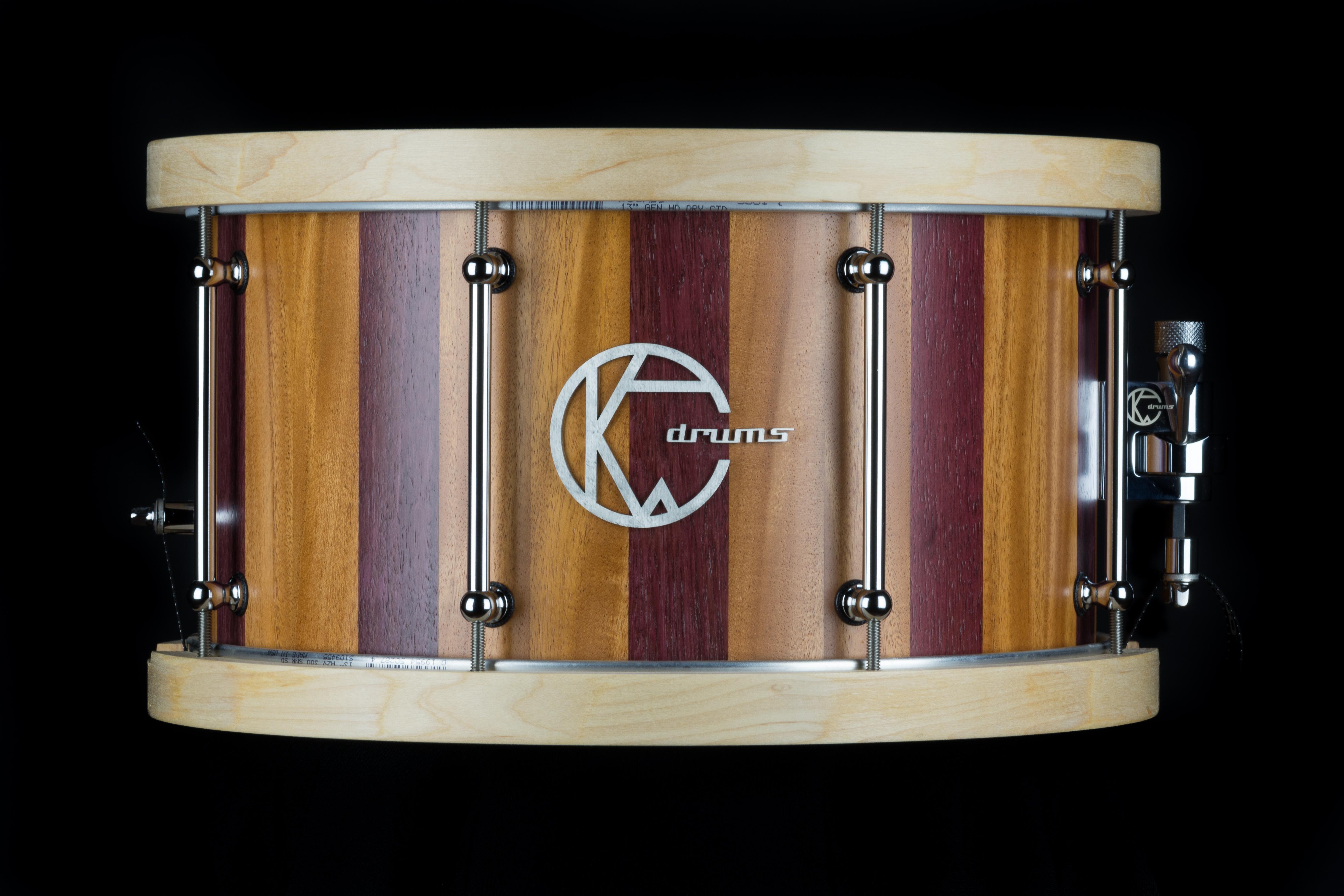Mahogany Purple-heart  Hybrid Snare