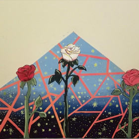 MIDNIGHT ROSE 2019 Acrylic  Hayes Middle School