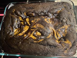 Thanksgiving Sweet Potato Brownies
