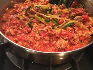 Zucchini Noodles & Turkey Bolognese