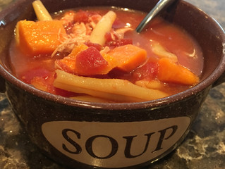 Slow Cooker Chicken Sweet Potato Soup