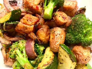 One Pan Sausage, Potatoes, Onions & Broccoli 🥔🥦🧅