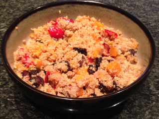 Quinoa with Roasted Peppers, Butternut Squash & Figs