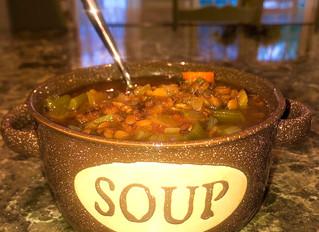 Quarantine Slow Cooker Lentil Soup