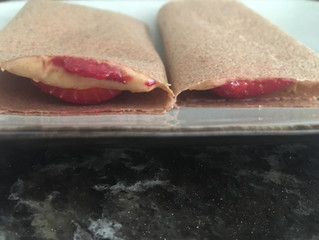 Peanut Butter & Strawberry Snack Wrap