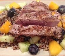 Seared Sesame Tuna with Citrus Quinoa Salad