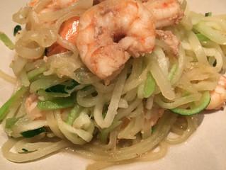 Garlic Shrimp & Zucchini Noodles