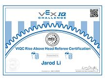 VEX IQ Rise Above Head Referee Certificate.png