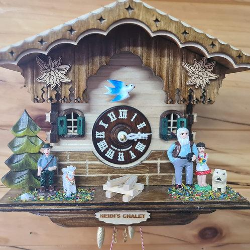 Heidi's Chalet Swinging Girl Clock