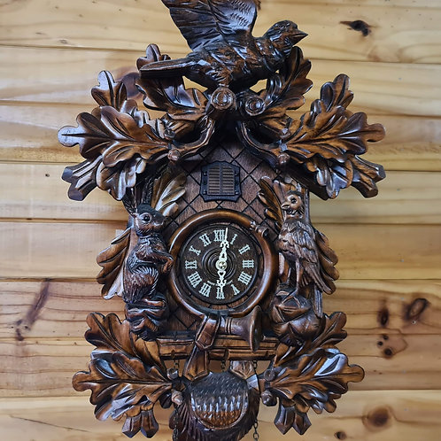 Birds and Hare Quartz Cuckoo Clock