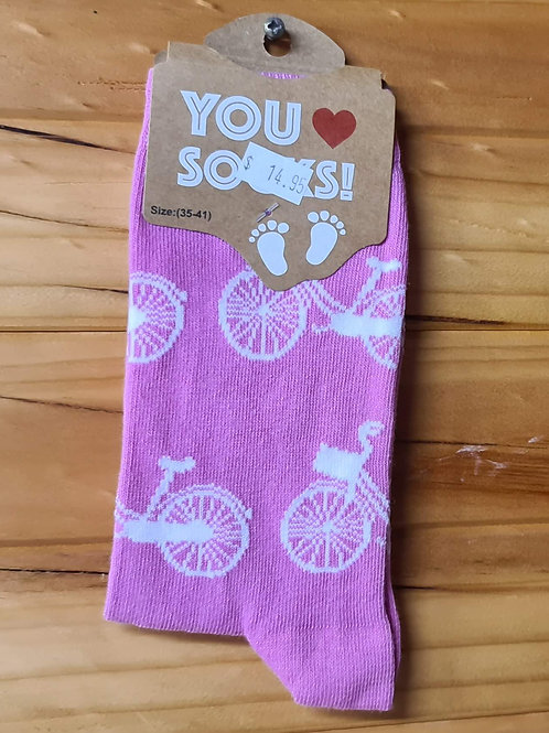 Dutch Themed Socks - White Bicycles