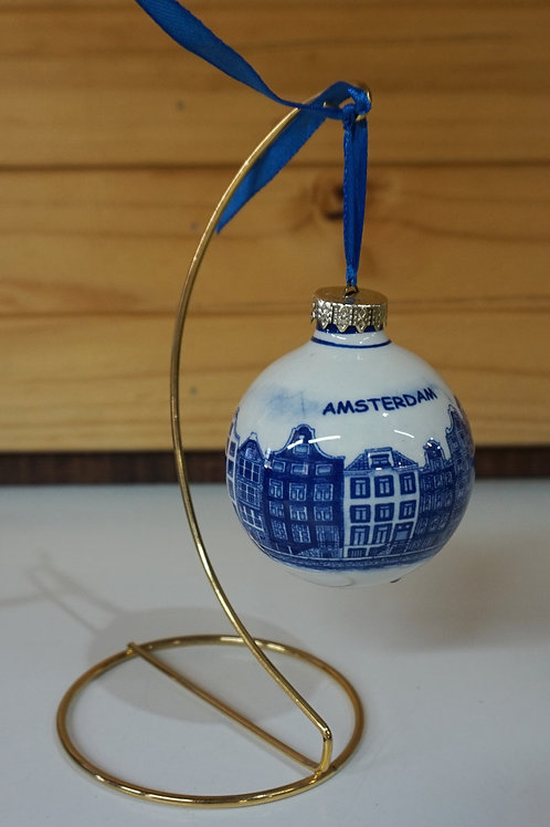 Christmas Bauble Round - Canal Houses