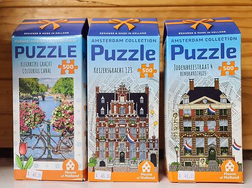 500 Piece Dutch Puzzle - Amsterdam Collection