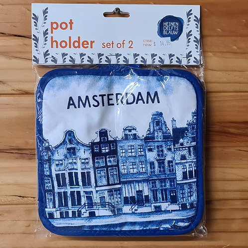 Pot Holders with Canal Houses
