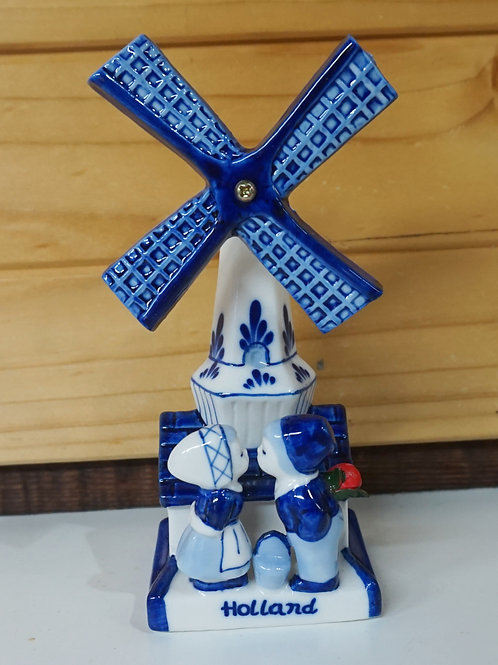 Windmill with Kissing Couple