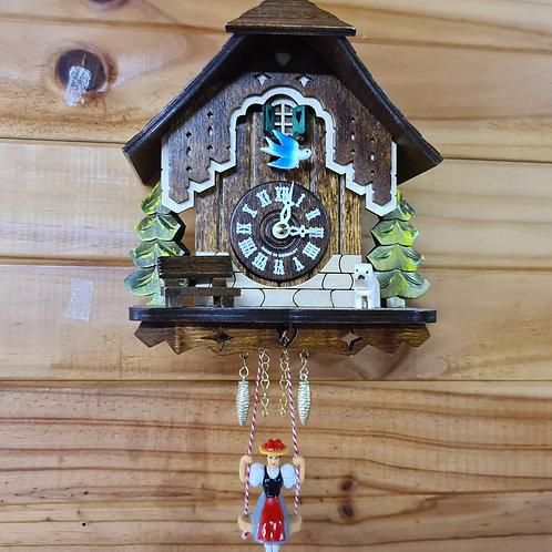 Miniature Quartz Swinging Doll Clock