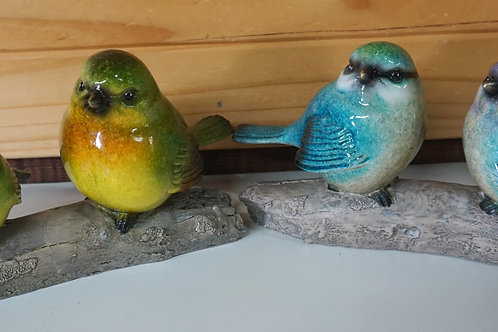 Marble Birds on Branch