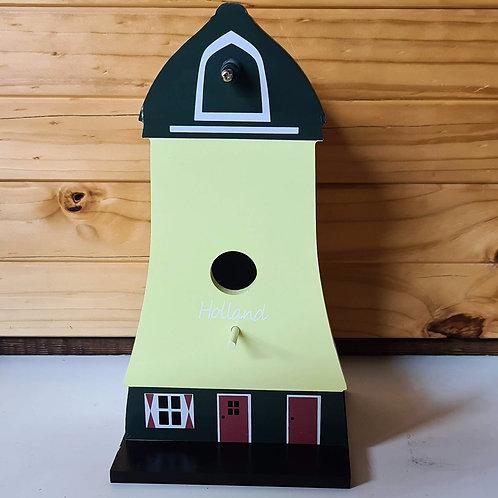 Wooden Bird House - Windmill