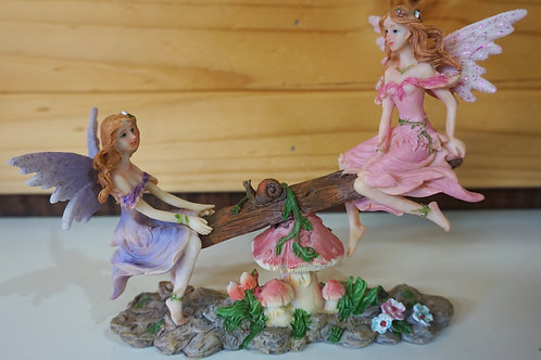 Fairies on seesaw figurine