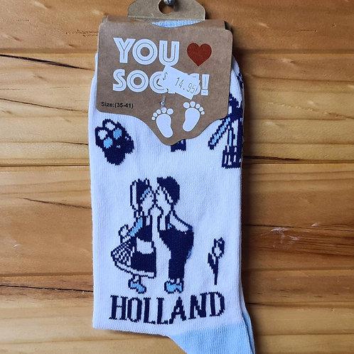Dutch Themed Socks - Kissing Couple
