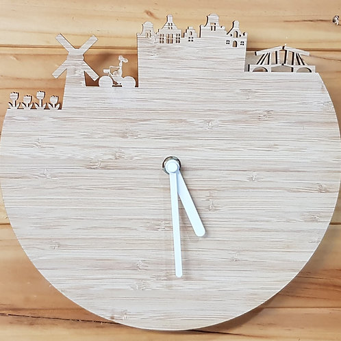 Bamboo Dutch Clock
