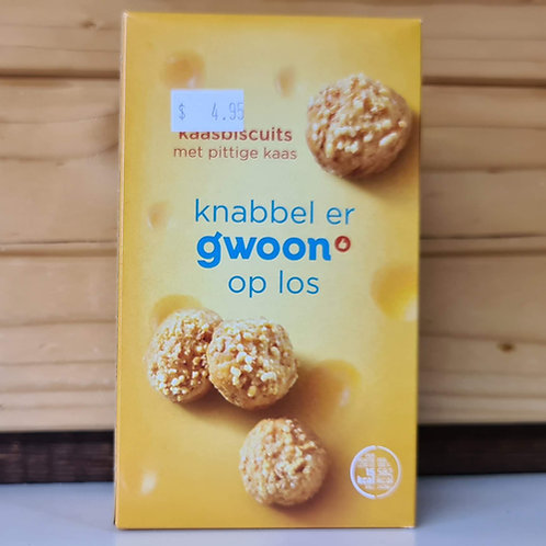 G'woon - Dutch Cheese Wafer Snacks (Kaas Bolletjes) 100g