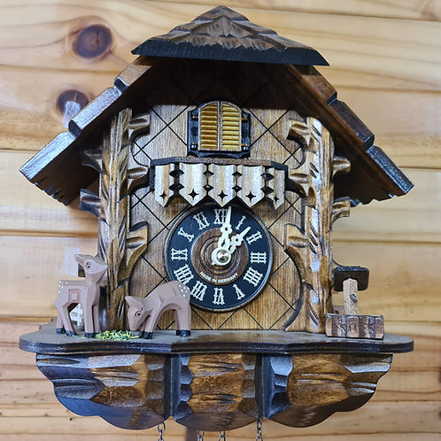 Quartz Musical Cuckoo Clock with Bambi's