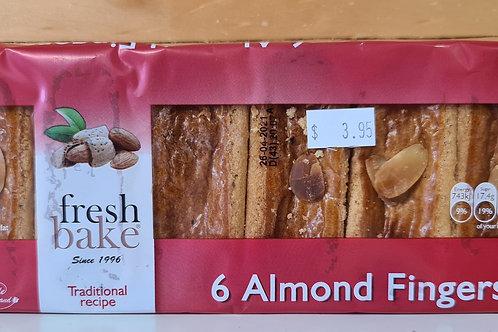 Freshbake - 6 x Almond Fingers 260gr