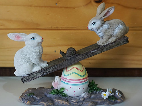 Bunnies on Seesaw