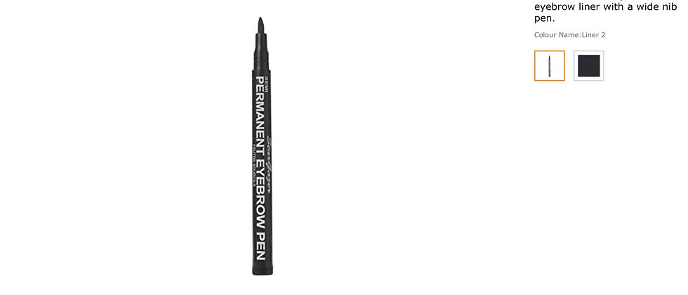 Semi-Permanent Eyebrow Liner 2. Up to 24 hours strong dark brown waterproof eyeb