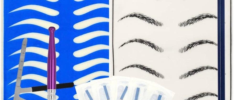Anself Eyebrow Permanent Tattoo Practice Kit Microblading Set Manual Eyebrow Pen