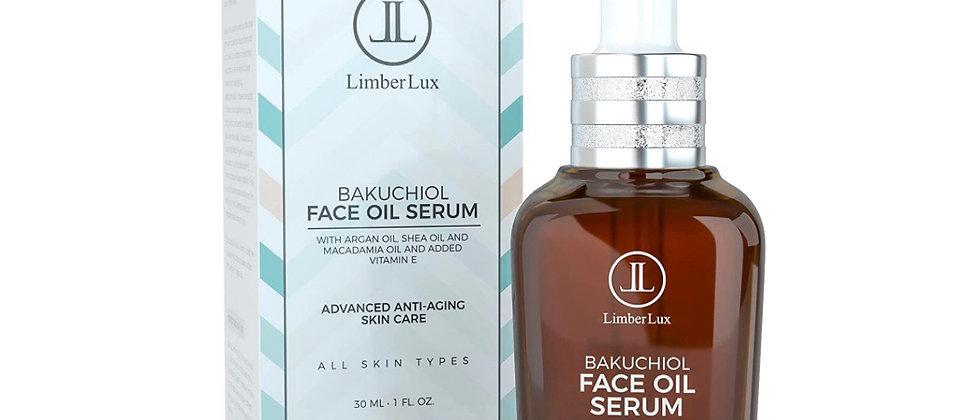 LimberLux Bakuchiol Face Oil Serum - Advanced Anti-Aging Skincare With Argan Oil