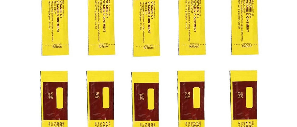 Tattoo Aftercare Cream Vitamin A & D Anti-stain Ointment (10Pcs/Set) for Permane