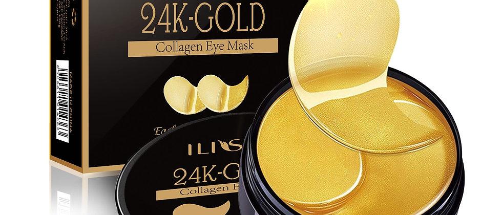 Collagen Eye Mask 24K   Eye Gel Remove Dark Circles Anti-Puffiness Anti-Aging