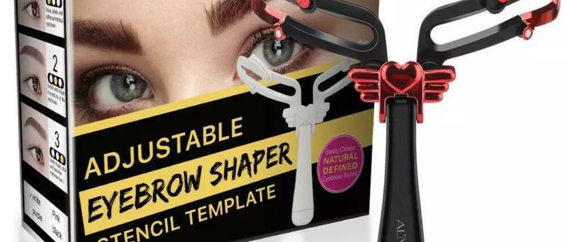 Adjustable Eyebrow Stencils Stamp Template Perfect Symmetrical Brows Shape Black