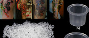 SPMU Ink Cups Pots Microblading - Tattoo Pigment Holder, Clear Plastic
