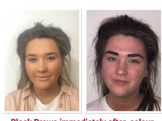 Semi-Permanent makeup can transform your eyebrows.  It can take years of you whether you have spars