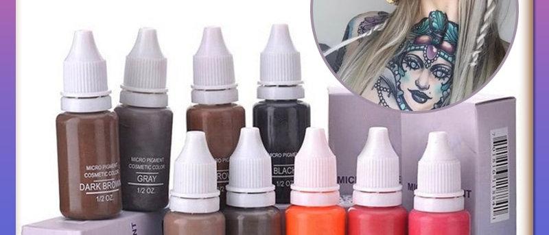 Eyebrow&eyeliner& Lip Semi Permanent Makeup Tattoo Ink Brand Micro Pigment