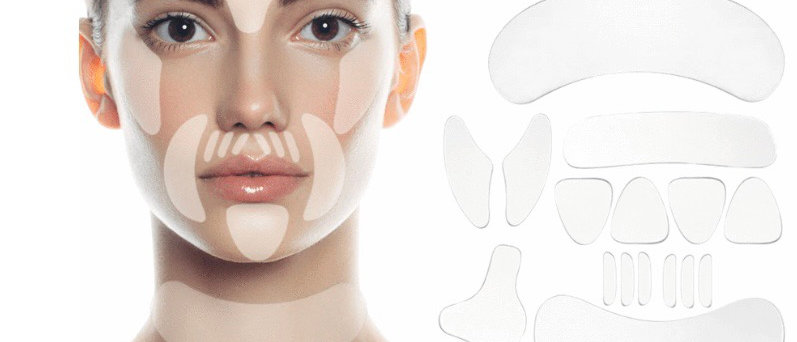 18 Pieces Reusable Silicone Anti Wrinkle Patches for Face, Chest, Forehead, Unde
