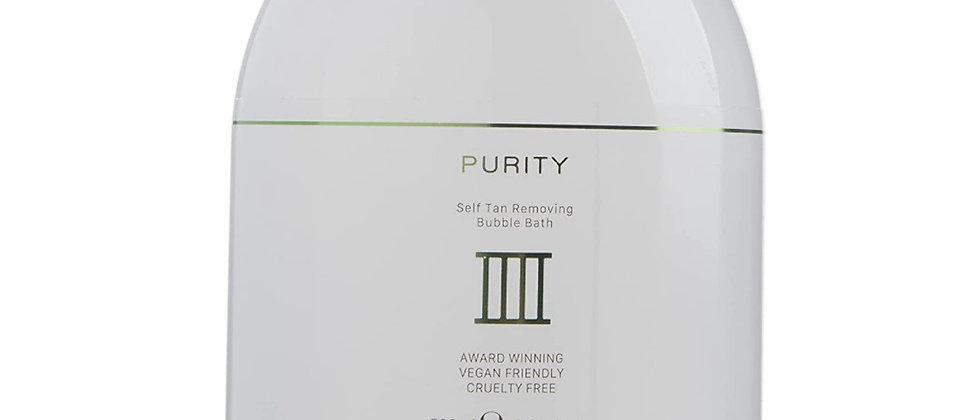 Purity Self Tan Removing Bubble Bath 500ml. Effective Self Tan Eraser, Removes A