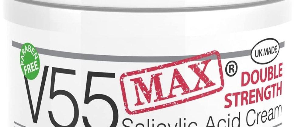 V55 MAX Double Strength Salicylic Acid Cream for Spots Blackheads Milia Blemishe
