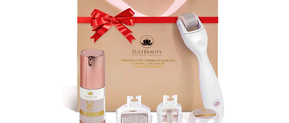 ZUSTBEAUTY | Derma Roller Kit for Face, Body, Stomach | 0.3MM Titanium Microneed