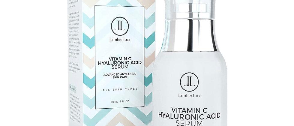 LimberLux Vitamin C Serum with Hyaluronic Acid and Aloe Vera in Airless Pump Bot