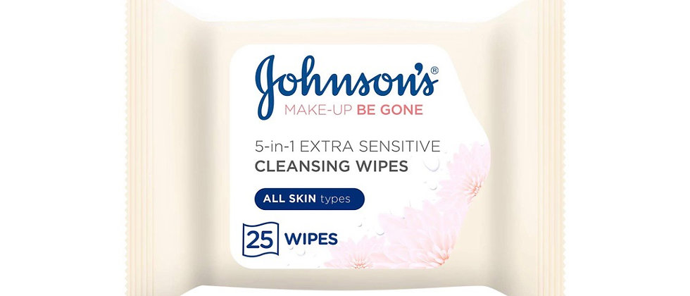 Johnson's Makeup Be Gone Extra-Sensitive Wipes,