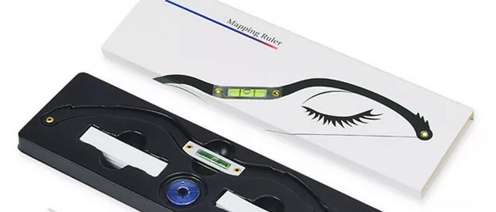 Camisin Microblading Eyebrow Ruler, Permanent Makeup Eyebrow Line Ruler with Map