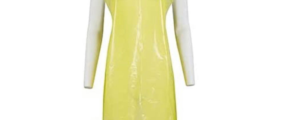 isposable Plastic Aprons – Roll of 100 Aprons (Yellow)