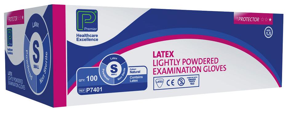 Protector Latex Powdered Examination Gloves
