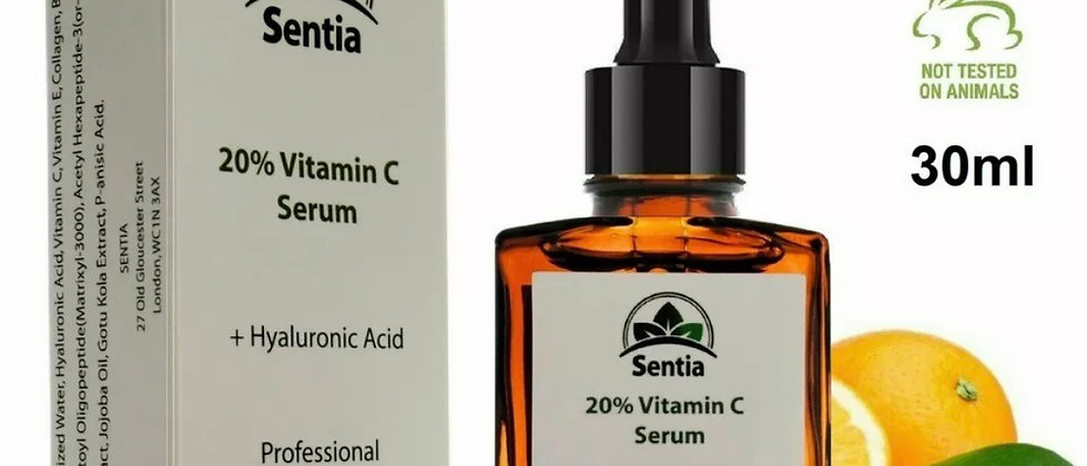 Vitamin C, E + Collagen + Hyaluronic. Anti Ageing Face skin Serum Cream Products