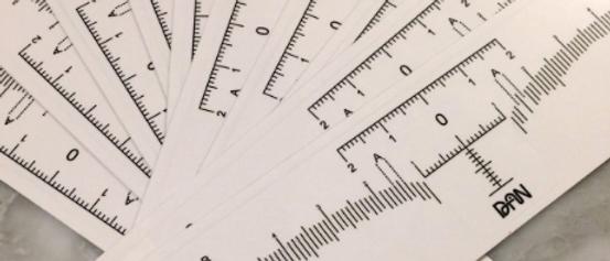 Microblading Disposable Eyebrow Ruler Sticker Tattoo Microblade Measure Tool